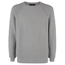 Buy Jaeger Cotton Moss Stitch Jumper, Shark Online at johnlewis.com