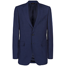 Buy Jaeger Silk Linen Classic Suit Jacket, Blue Online at johnlewis.com