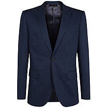 Buy Jaeger Cotton Twill Jacket, Navy Online at johnlewis.com