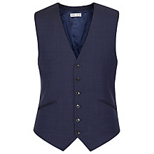 Buy Reiss Silver Modern Fit Suit Waistcoat, Navy Online at johnlewis.com