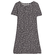 Buy Mango Printed Shift Dress, Black Online at johnlewis.com