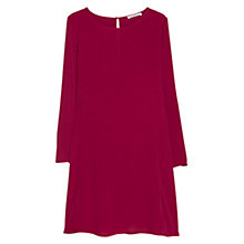 Buy Mango Flared Dress, Currant Red Online at johnlewis.com