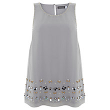 Buy Mint Velvet Bead Hem Top, Grey Online at johnlewis.com