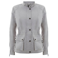 Buy Mint Velvet Waxed Jacket, Stone Online at johnlewis.com