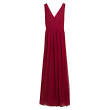 Buy Mango Cut-out Ruched Maxi Dress, Dark Red Online at johnlewis.com
