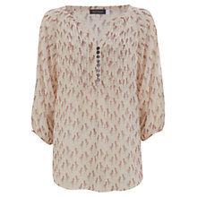 Buy Mint Velvet Flamingo Print Blouse, Multi Online at johnlewis.com