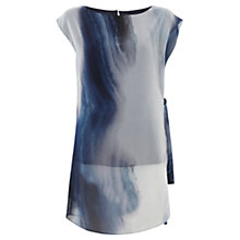 Buy Mint Velvet Beth Print Tie Tunic Top, Multi Online at johnlewis.com