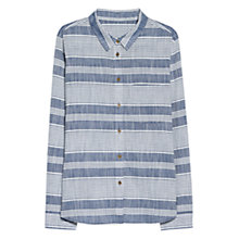 Buy Mango Striped Cotton Shirt, Light Pastel Blue Online at johnlewis.com