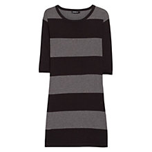 Buy Mango Striped Knit Dress, Black Online at johnlewis.com