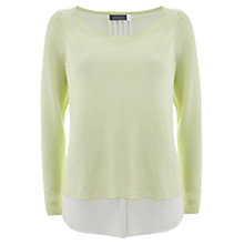 Buy Mint Velvet Shirt Tail Knitted Top, Citrus Online at johnlewis.com