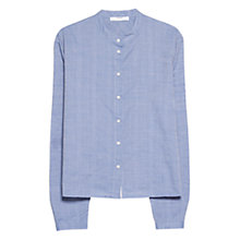 Buy Mango Slub Cotton Shirt, Light Pastel Blue Online at johnlewis.com