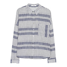 Buy Mango Striped Cotton Shirt, Navy Online at johnlewis.com