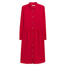 Buy Mango Shirt Dress, Bright Red Online at johnlewis.com