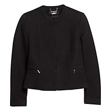 Buy Mango Textured Tailored Jacket, Black Online at johnlewis.com