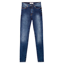 Buy Mango High Waist Jeans, Open Blue Online at johnlewis.com