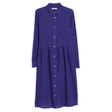 Buy Mango Shirt Dress, Bright Blue Online at johnlewis.com