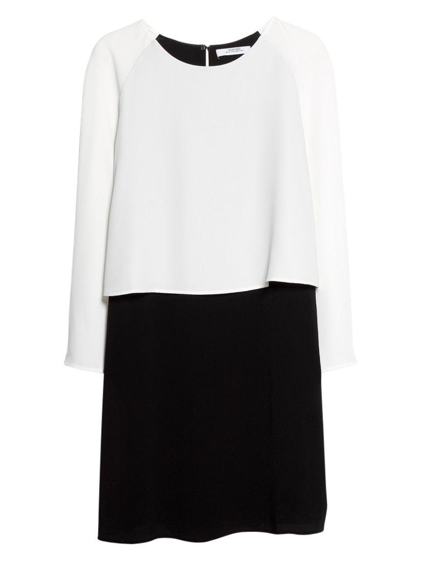 mango contrast dress natural white, mango, contrast, dress, natural, white, 14 12 10 8 6, women, womens dresses, new in clothing, 1939753