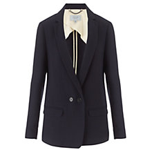 Buy Jigsaw Crepe Jacket, Navy Online at johnlewis.com