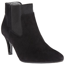 Buy Peter Kaiser Orthia Suede Heeled Ankle Boots, Black Online at johnlewis.com