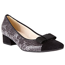 Buy Peter Kaiser Ambo Block Heel Court Shoes, Grey Online at johnlewis.com