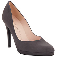 Buy Peter Kaiser Herdi Suede Platform Stiletto Court Shoes, Grey Online at johnlewis.com