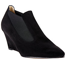 Buy Peter Kaiser Rilana Suede Wedge Ankle Boots, Black Online at johnlewis.com
