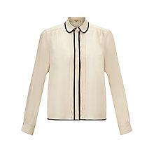 Buy Weekend by MaxMara Contrast Blouse, Sand Online at johnlewis.com