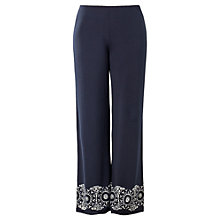 Buy Max Studio Border Print Trousers, Navy Online at johnlewis.com