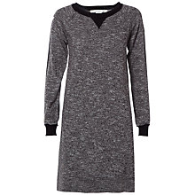 Buy Max Studio Long Sleeve Marl Jersey Dress, Grey/Black Online at johnlewis.com