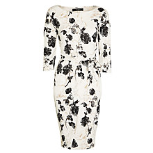 Buy Weekend by MaxMara Superbo Floral Jersey Dress, Sand Online at johnlewis.com