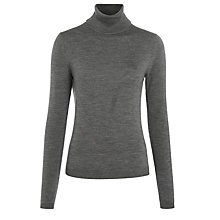 Buy BOSS Black Famaurie Roll Neck Jumper, Grey Online at johnlewis.com