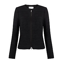 Buy BOSS Zip Jacket, Black Online at johnlewis.com