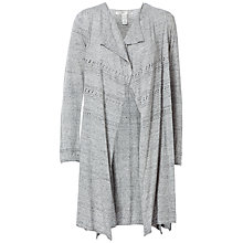 Buy Max Studio Pointelle Drape Front Cardigan, Grey Online at johnlewis.com
