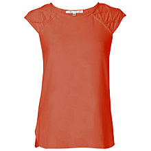 Buy Max Studio Cap Sleeve Jersey Top, Persimmon Online at johnlewis.com