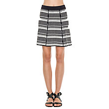 Buy Max Studio Knitted Mini Skirt, Black/Cream Online at johnlewis.com