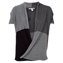 Buy Max Studio Colour Block Stripe Jumper, Black/Steel Online at johnlewis.com