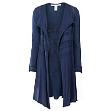 Buy Max Studio Pointelle Drop Cardigan, Navy Online at johnlewis.com