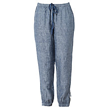 Buy Max Studio Linen Trousers, Indigo Online at johnlewis.com
