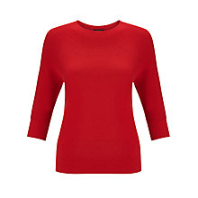 Buy Weekend by MaxMara Scoop-neck Jumper, Red Online at johnlewis.com