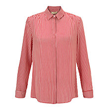 Buy Weekend by MaxMara Stripe Silk Shirt, Red Online at johnlewis.com