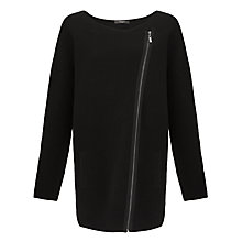 Buy Weekend by MaxMara Ribbed Coatigan, Black Online at johnlewis.com