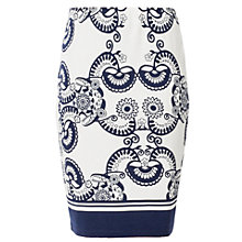 Buy Max Studio Printed Jersey Skirt, Navy Online at johnlewis.com