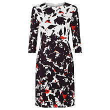 Buy BOSS Floral Print Dress, Black Online at johnlewis.com