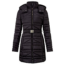 Buy BOSS Padded Coat, Black Online at johnlewis.com