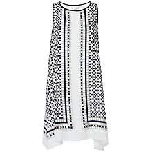 Buy Max Studio Sleeveless Printed Dress, Black/Off White Online at johnlewis.com