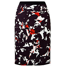 Buy BOSS Printed Skirt, Black Online at johnlewis.com