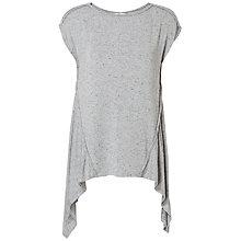 Buy Max Studio Cap Sleeve Speckled Jersey Top, Tweedy Grey Online at johnlewis.com