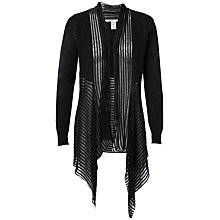 Buy Max Studio Long Sleeve Drape Front Cardigan, Black Online at johnlewis.com
