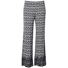 Buy Max Studio Printed Wide Leg Jersey Trousers, Black Online at johnlewis.com