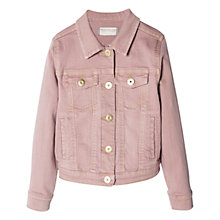 Buy Mango Kids Denim Jacket, Pink Online at johnlewis.com